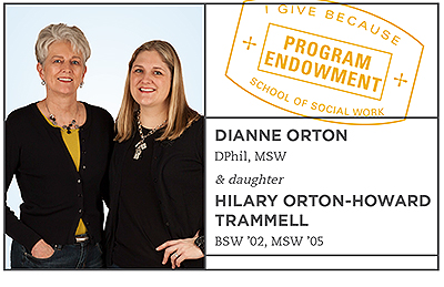 Diane Orton and Hilary Orton-Howard Trammell